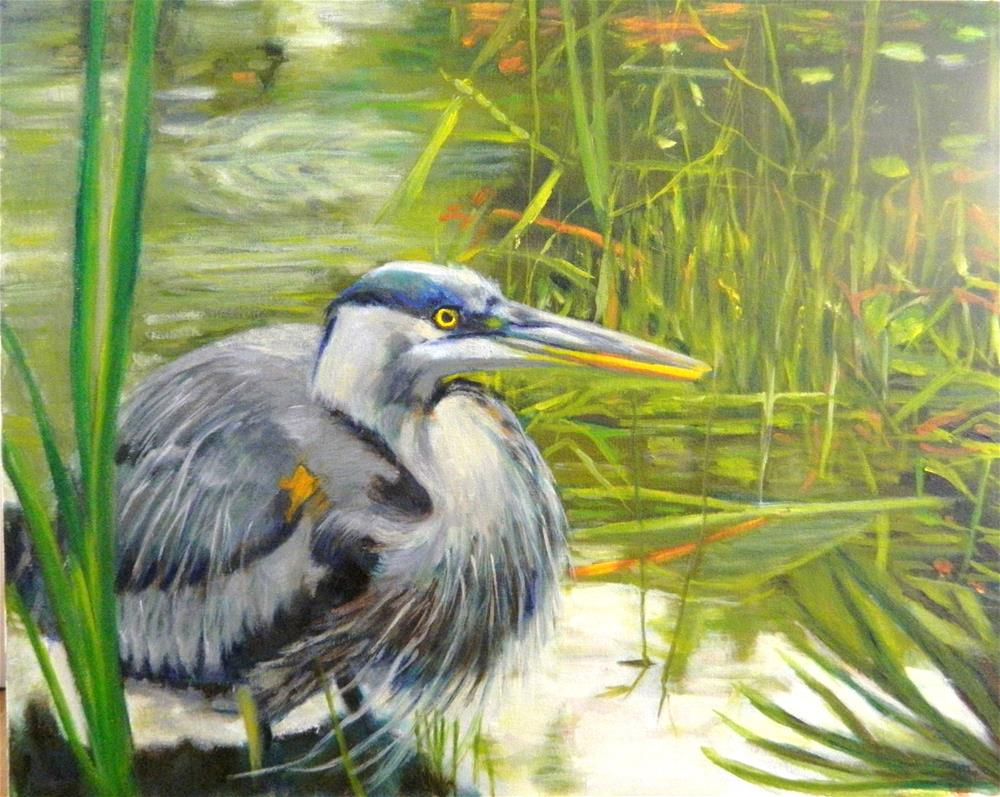 """Blue Heron"" original fine art by Sharon Yarbrough"