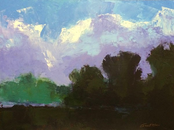 """Evening Mist"" original fine art by Mary Gilkerson"