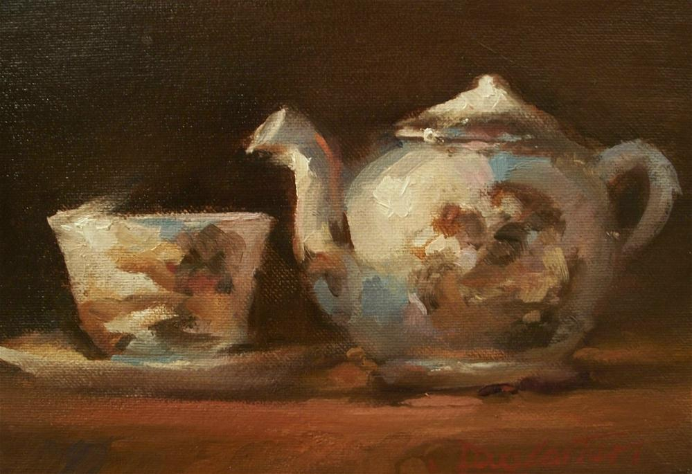 """CLASSIC TEA"" original fine art by Doug Carter"