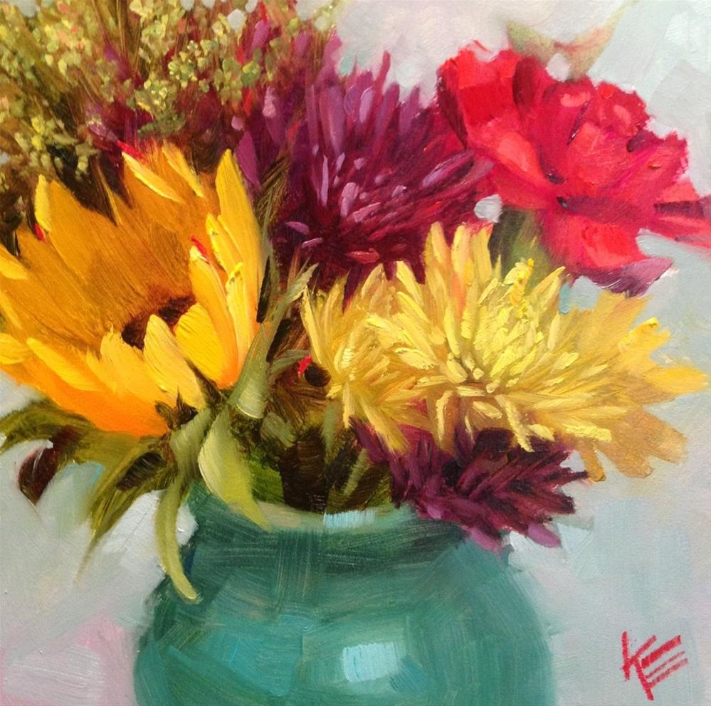 """Birthday Bouquet"" original fine art by Krista Eaton"