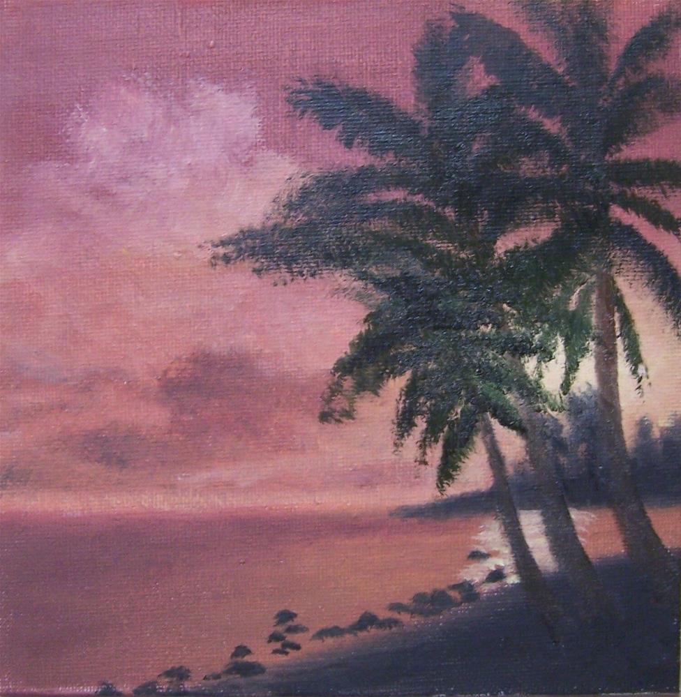 """""""Tropical Sunset #2"""" original fine art by John Marcum"""