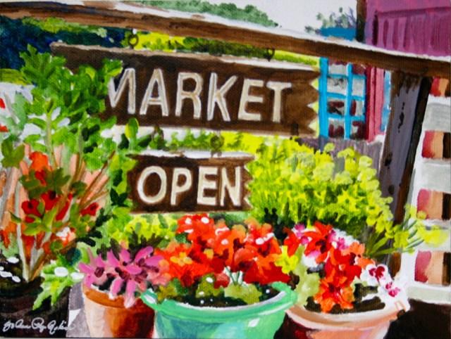 """""""Market Open"""" original fine art by JoAnne Perez Robinson"""