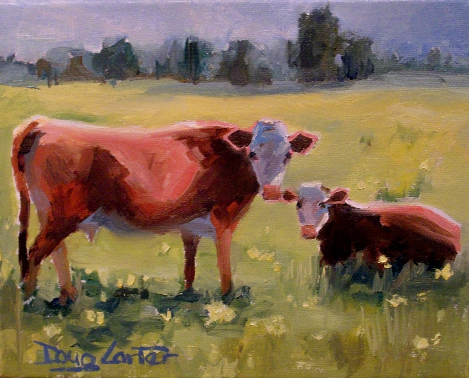 """LOOK HUMANS"" original fine art by Doug Carter"