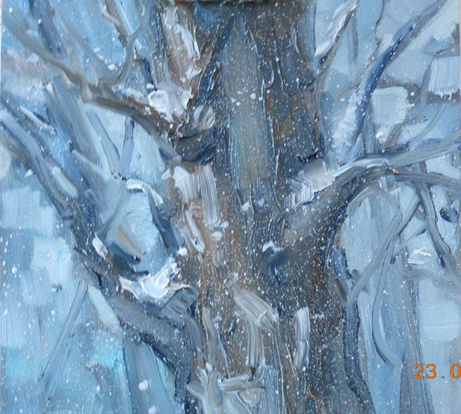 """Snow in April"" original fine art by Brande Arno"