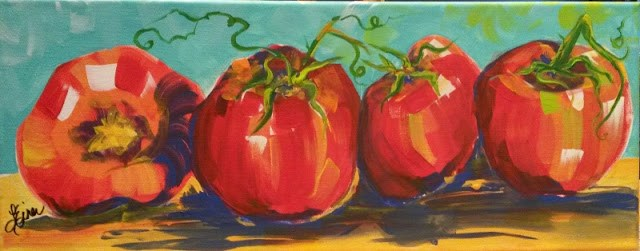 """You say Tomato-I Say Toe-Ma-Toe  Day 10 in the 30 Day Challenge"" original fine art by Terri Einer"