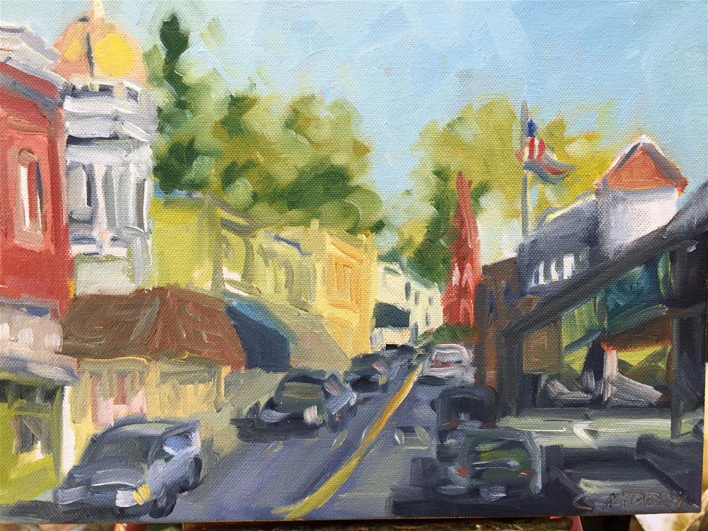 """Gold Rush town"" original fine art by Cheryl Moody"