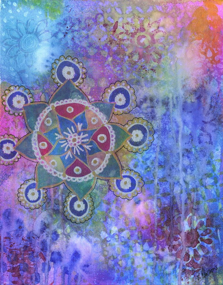 """Mandala"" original fine art by Kali Parsons"