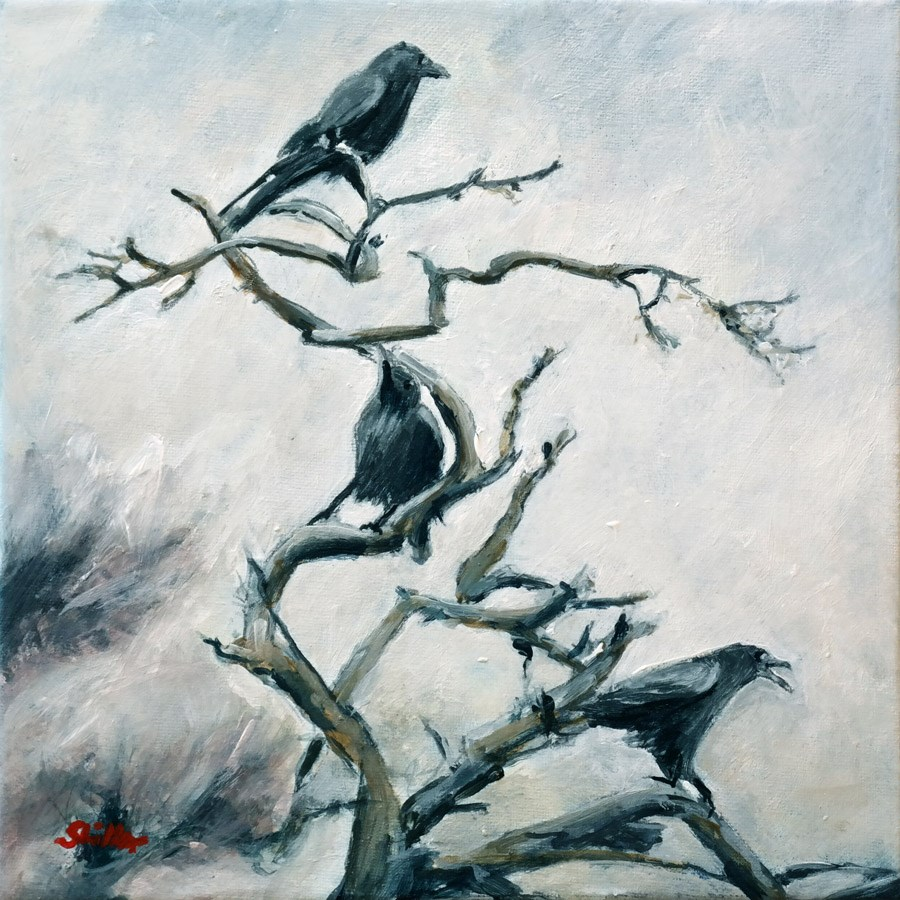 """1555 November Raven"" original fine art by Dietmar Stiller"