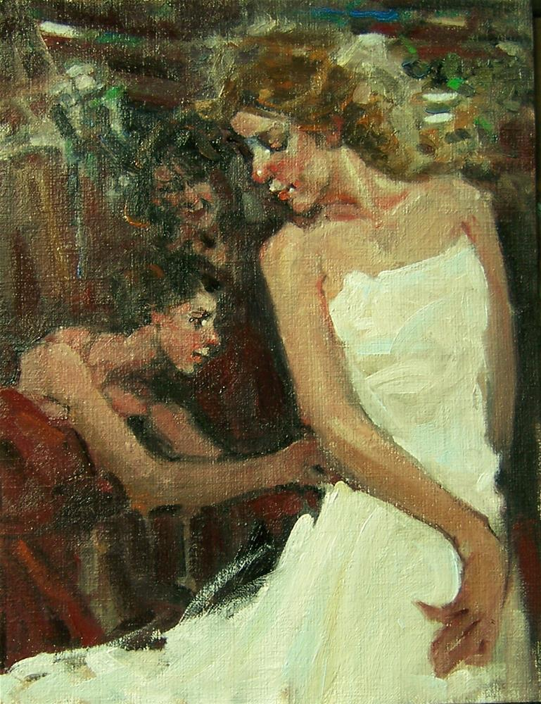 """The Fitting"" original fine art by Kim Roberti"