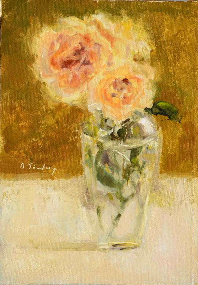 """Three Little Roses"" original fine art by alicia tredway"