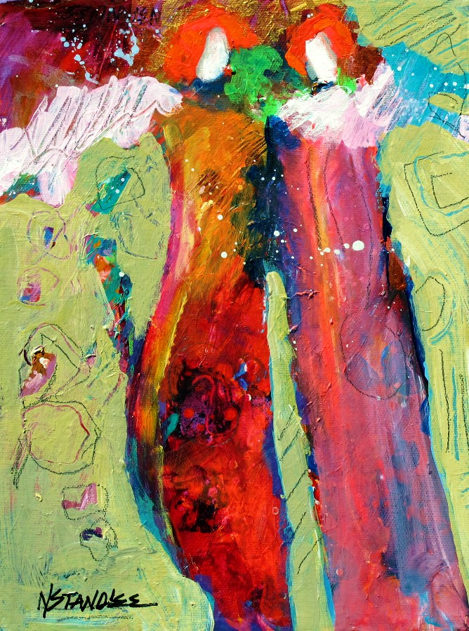 SOLD Let It Snow 11107 original fine art by Nancy Standlee