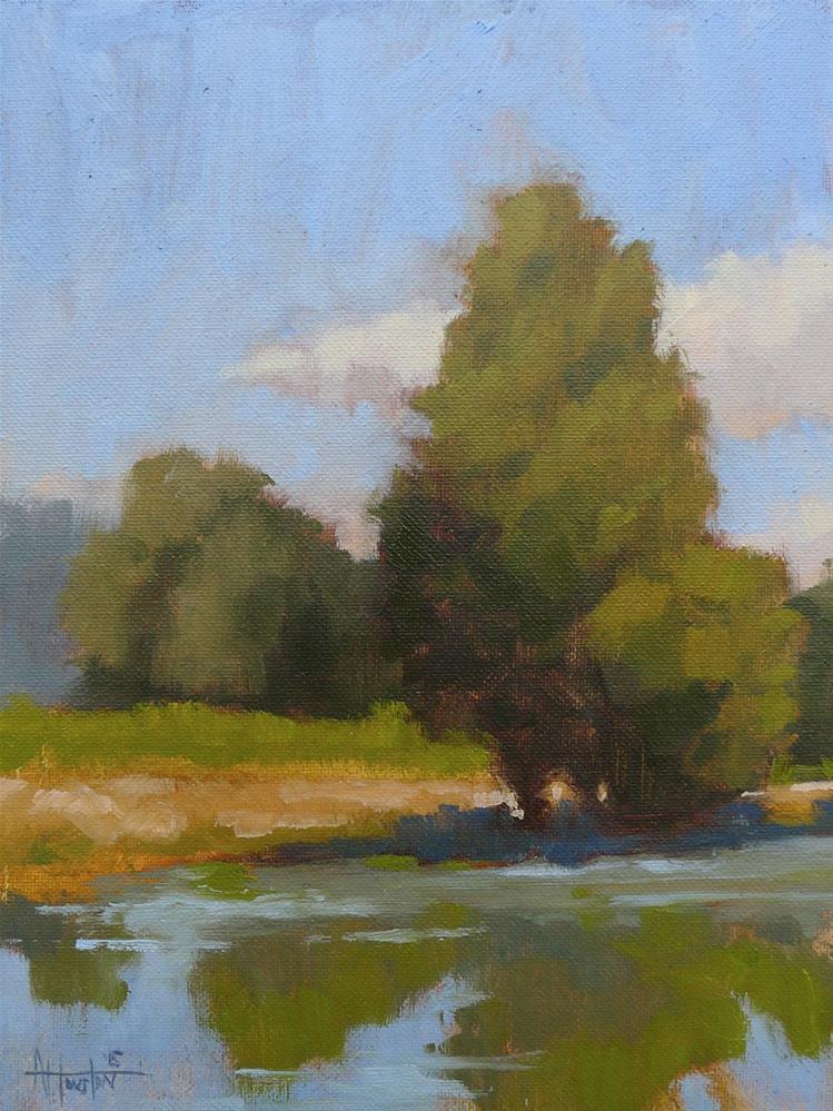 """""""Still Pond"""" original fine art by Adam Houston"""