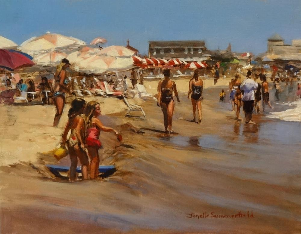 """Cape May Beach VII"" original fine art by Jonelle Summerfield"