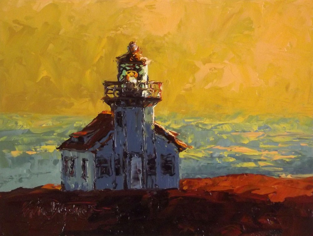"""Pt. Cabrillo Sundown"" original fine art by Erin Dertner"