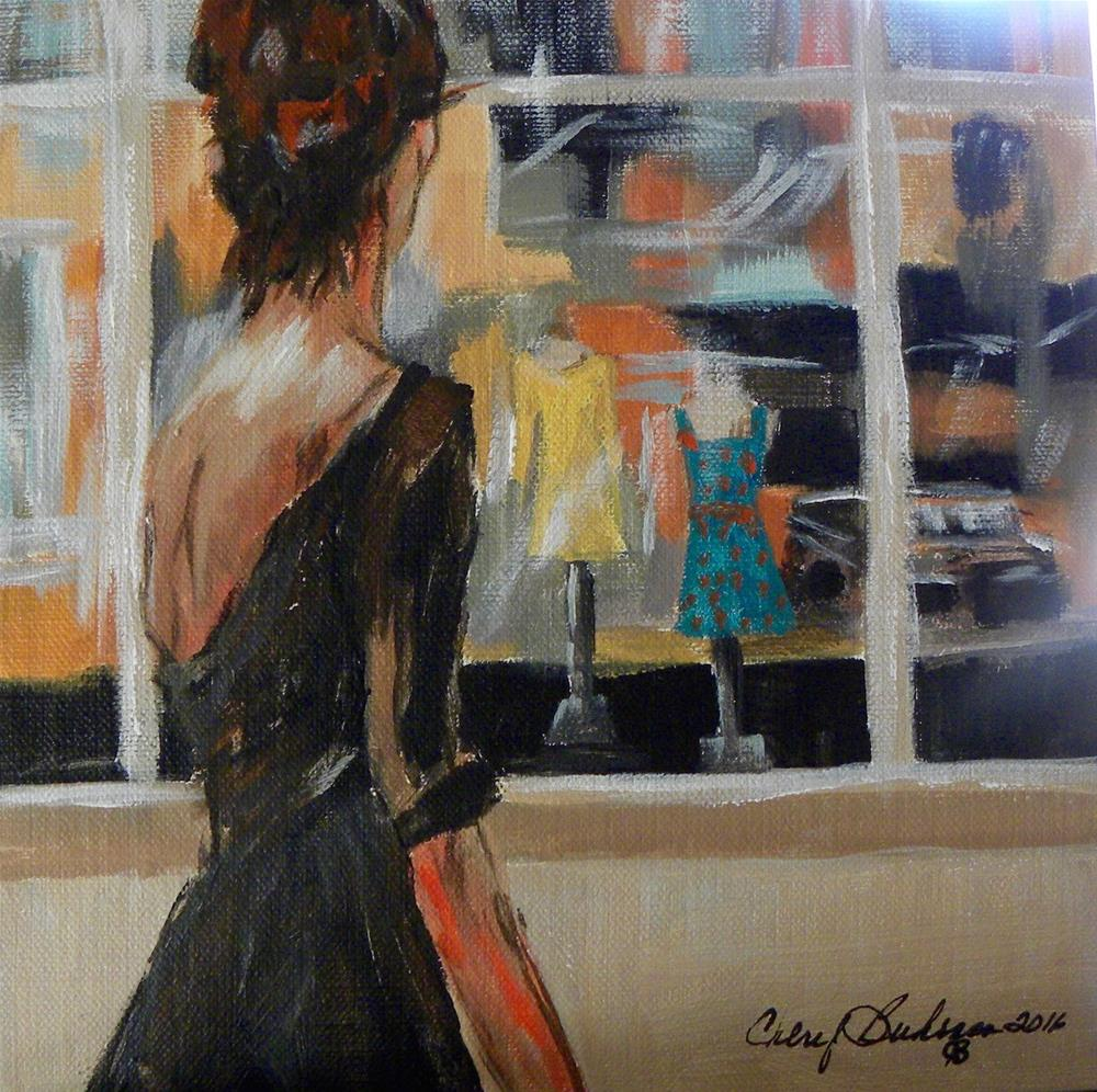 """Window Shopper"" original fine art by cheryl buhrman"