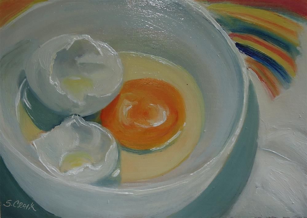 """Egg and Shell"" original fine art by Susan Craik"