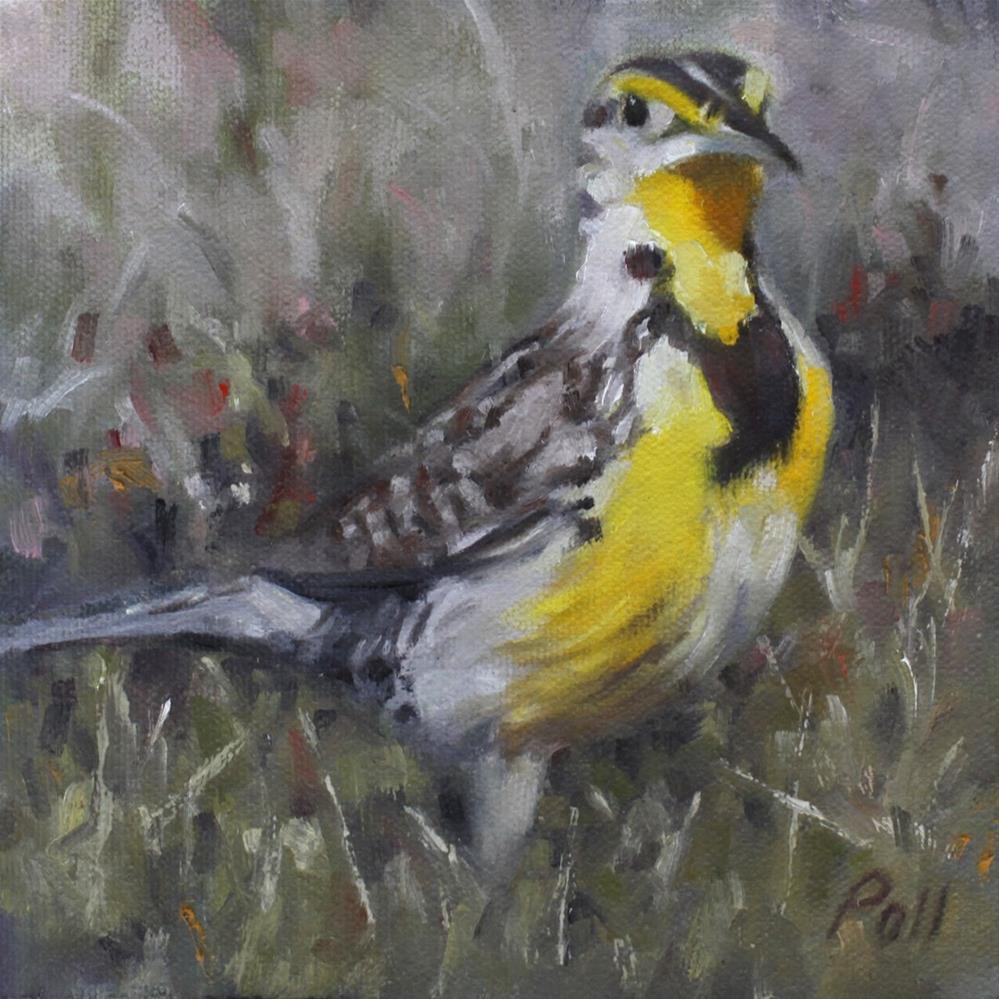 """Meadowlark"" original fine art by Pamela Poll"
