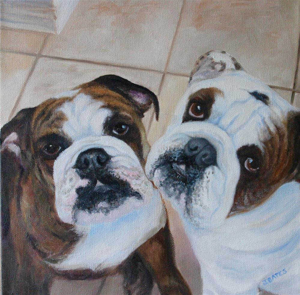 """Henry and Leroy"" original fine art by Jill Bates"