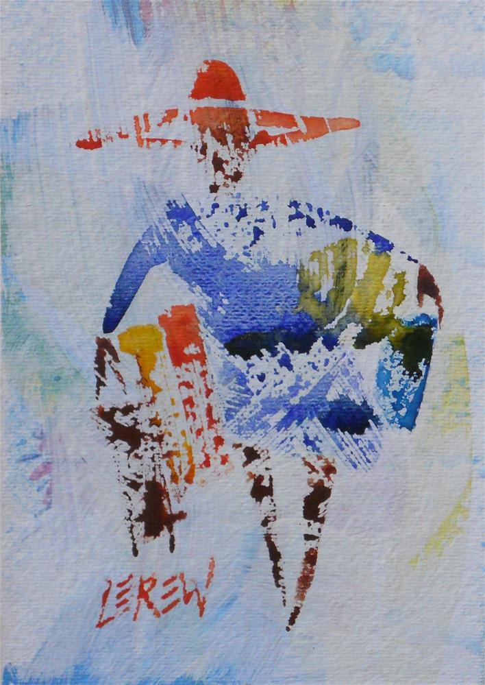 """Serendipity Blot Figure Sketch #13-06-05"" original fine art by Larry Lerew"