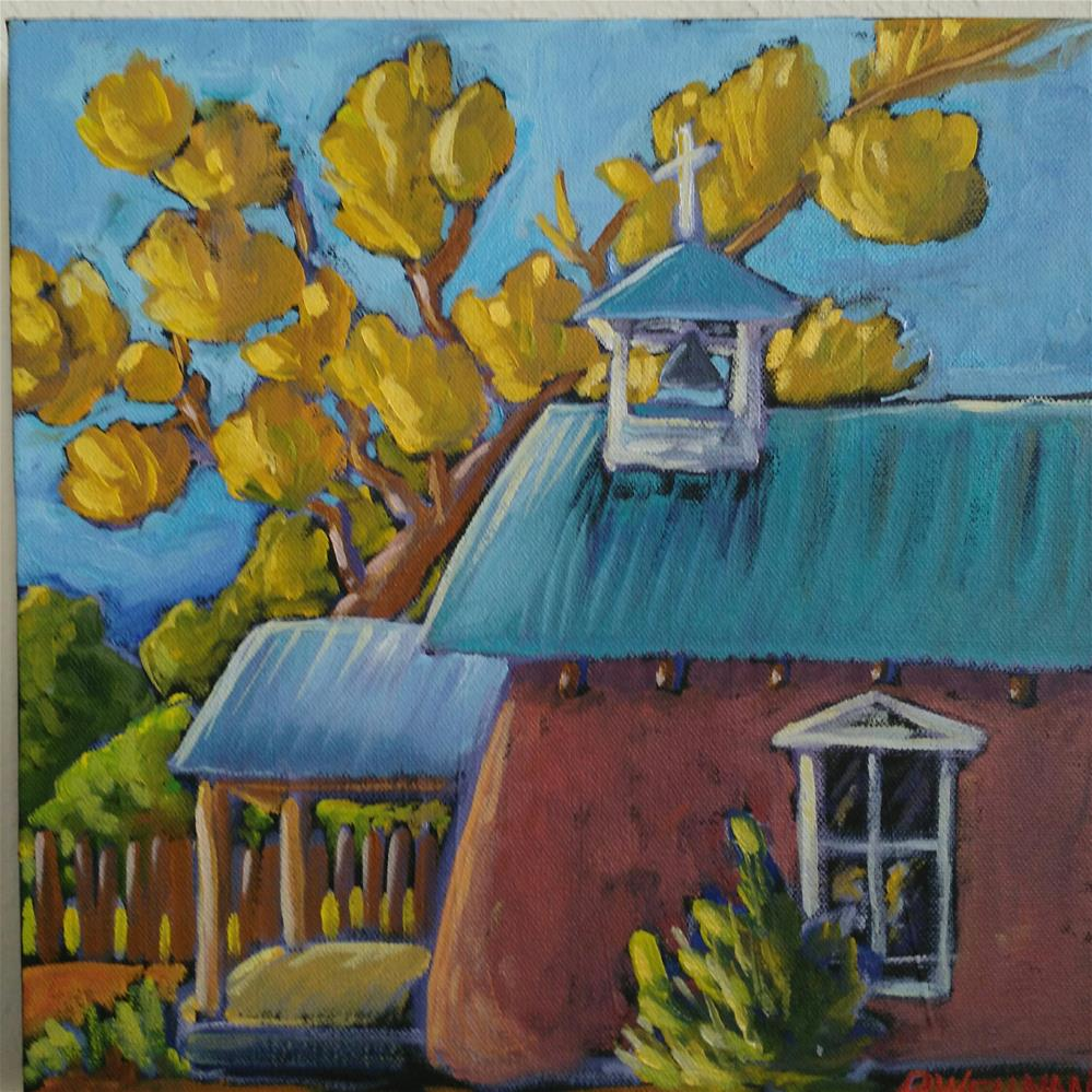 """Little chapel of serenity"" original fine art by Robyn Wellman"