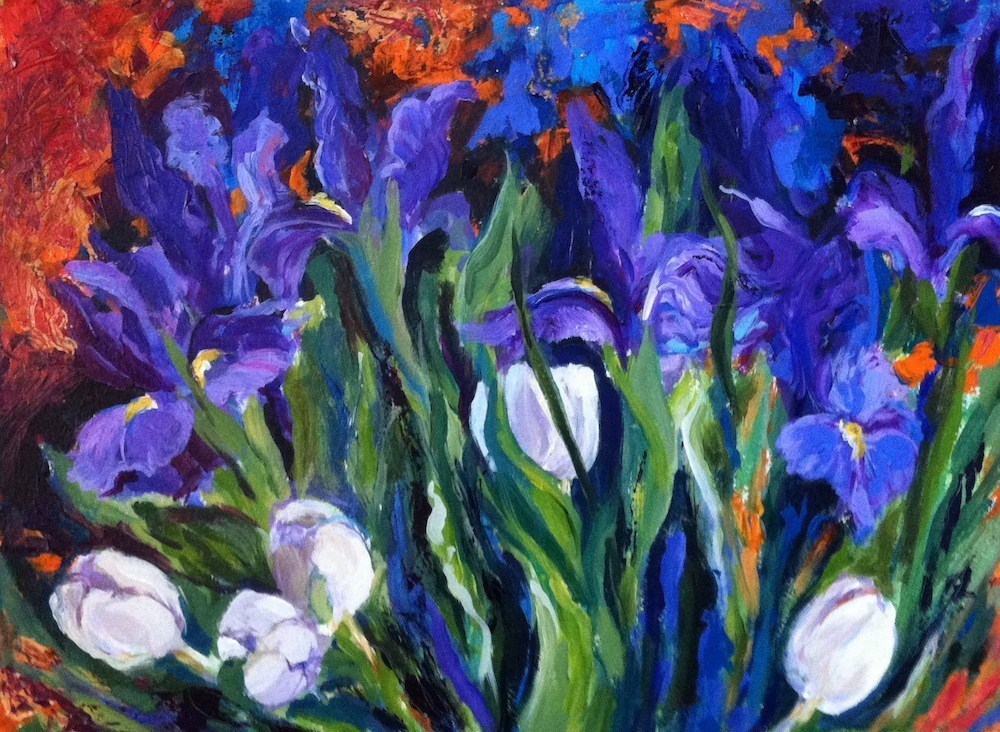 """Blue and White"" original fine art by Lynne Schulte"
