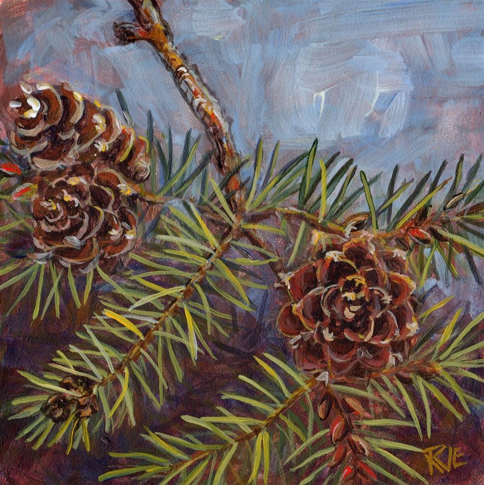 """""""#89  Fir Branch"""" original fine art by Ruth Van Egmond"""