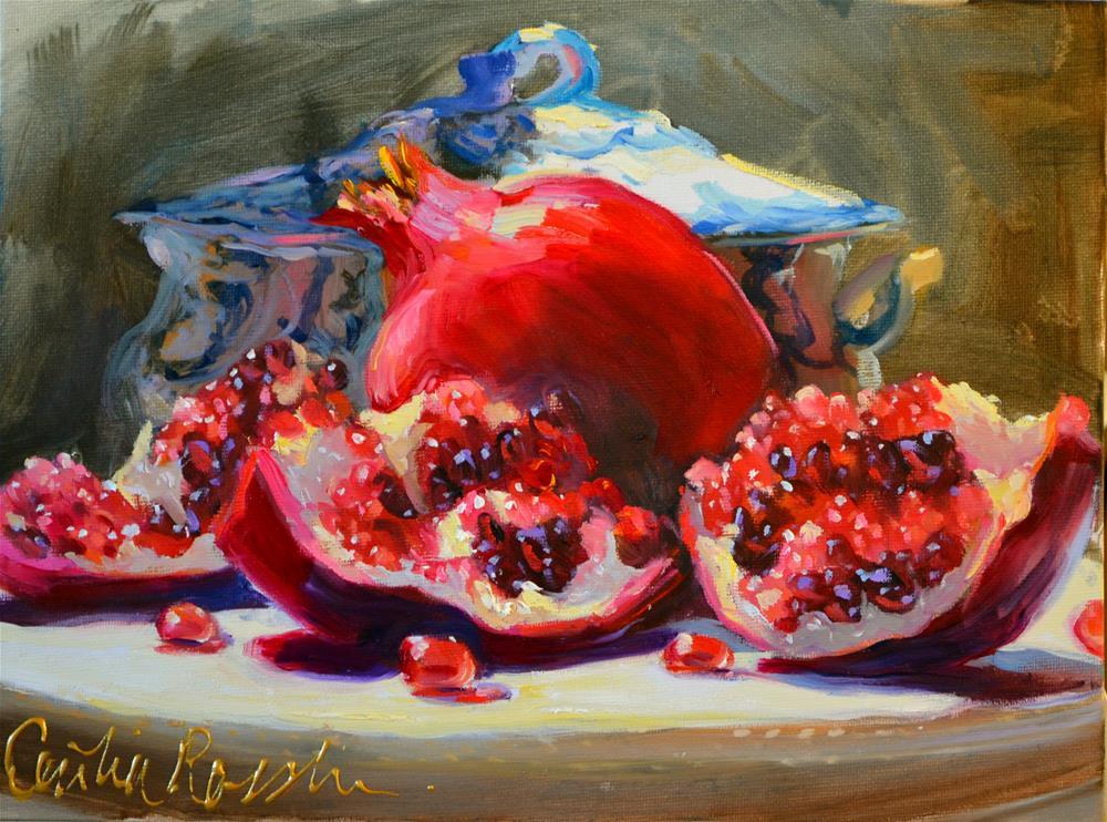 """PUNICA GRANATUM"" original fine art by Cecilia Rosslee"