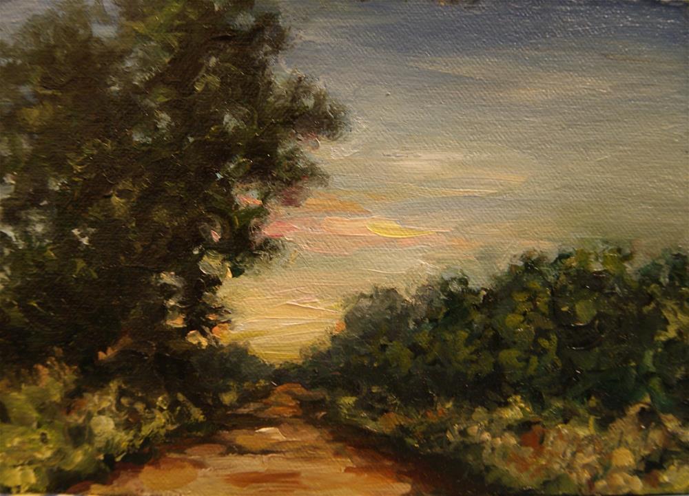 """Landscape No.5 ,  Oil on 6x6 Linen Panel"" original fine art by Carolina Elizabeth"