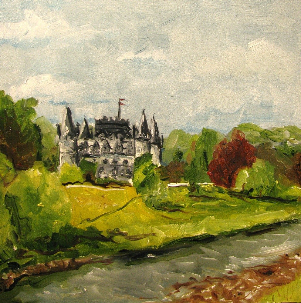 """Inveraray Castle - Argyll Scotland"" original fine art by Susan Elizabeth Jones"