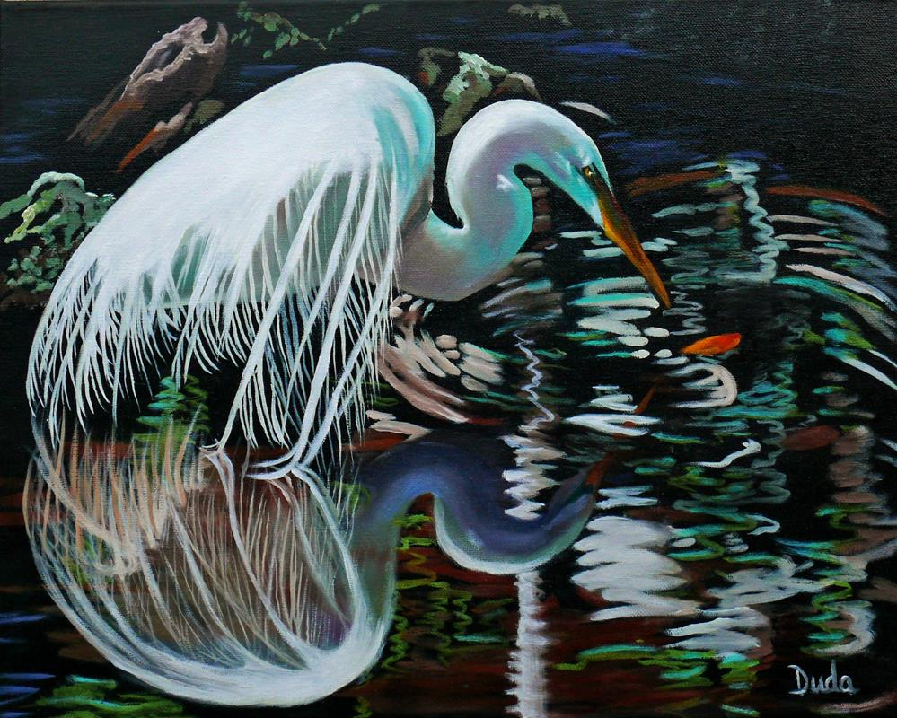 """Narcissus"" original fine art by Susan Duda"