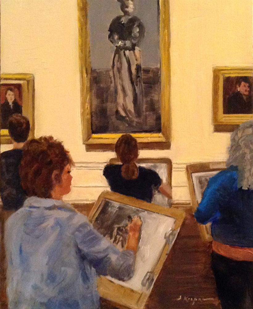 """Sketching at the Salon"" original fine art by Shelley Koopmann"