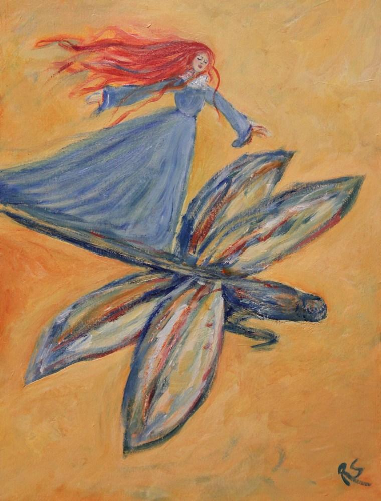 """""""...And Away They Flew"""" original fine art by Roberta Schmidt"""