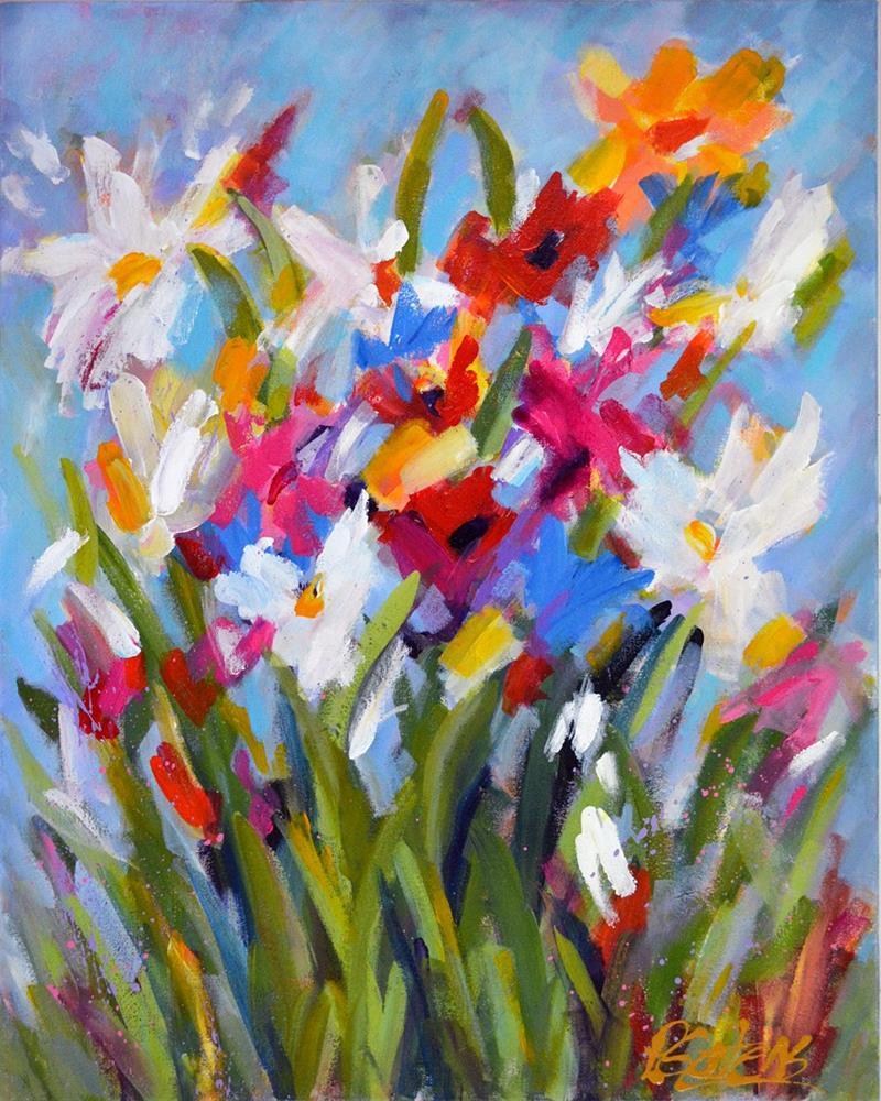 """""""Garden Party"""" original fine art by Pamela Gatens"""