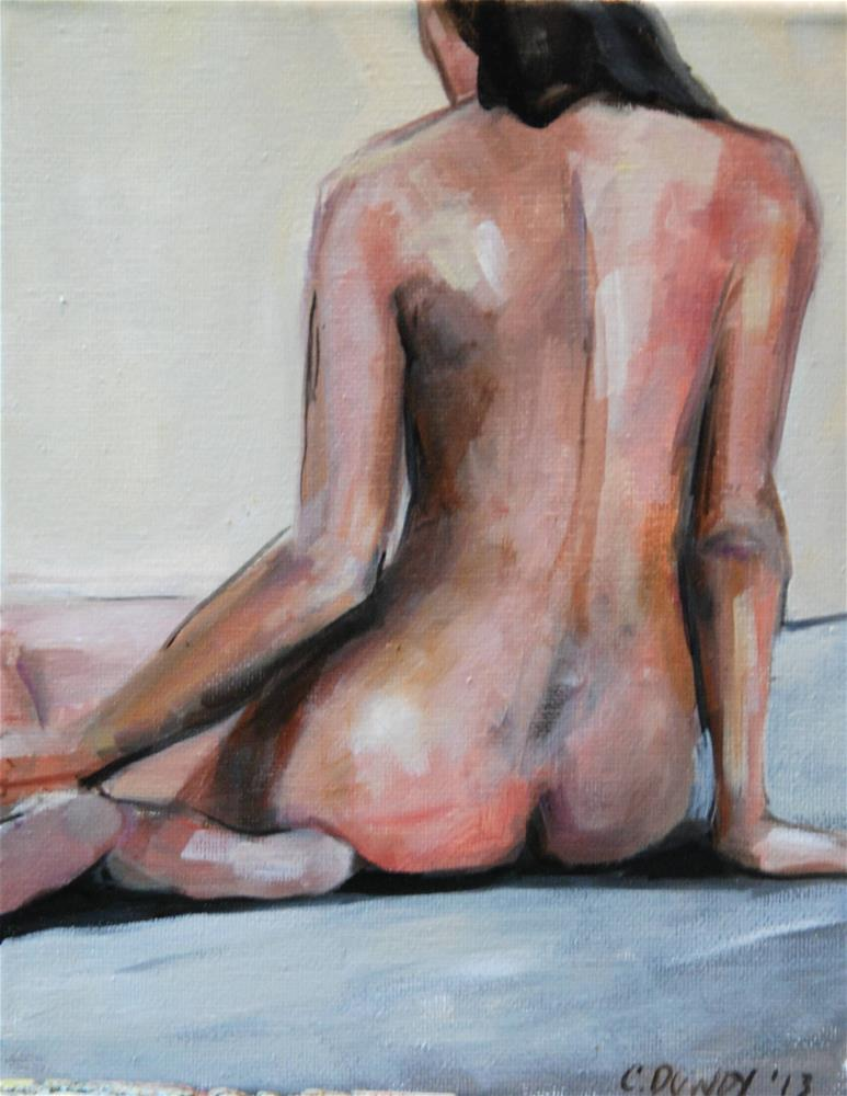 """Seated Nude III"" original fine art by Christina Dowdy"