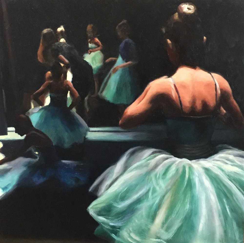 """Waiting Off Stage"" original fine art by Cheryl Meehan"
