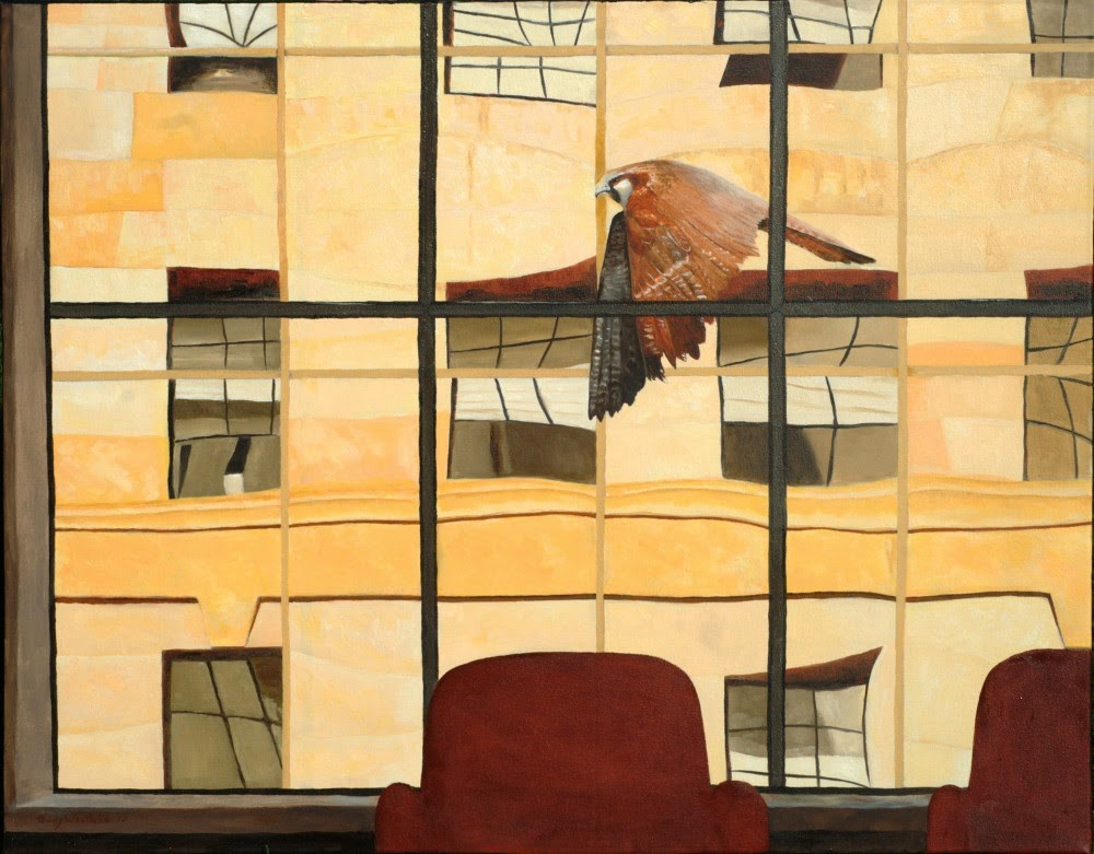 """The Boardroom"" original fine art by Gary Westlake"
