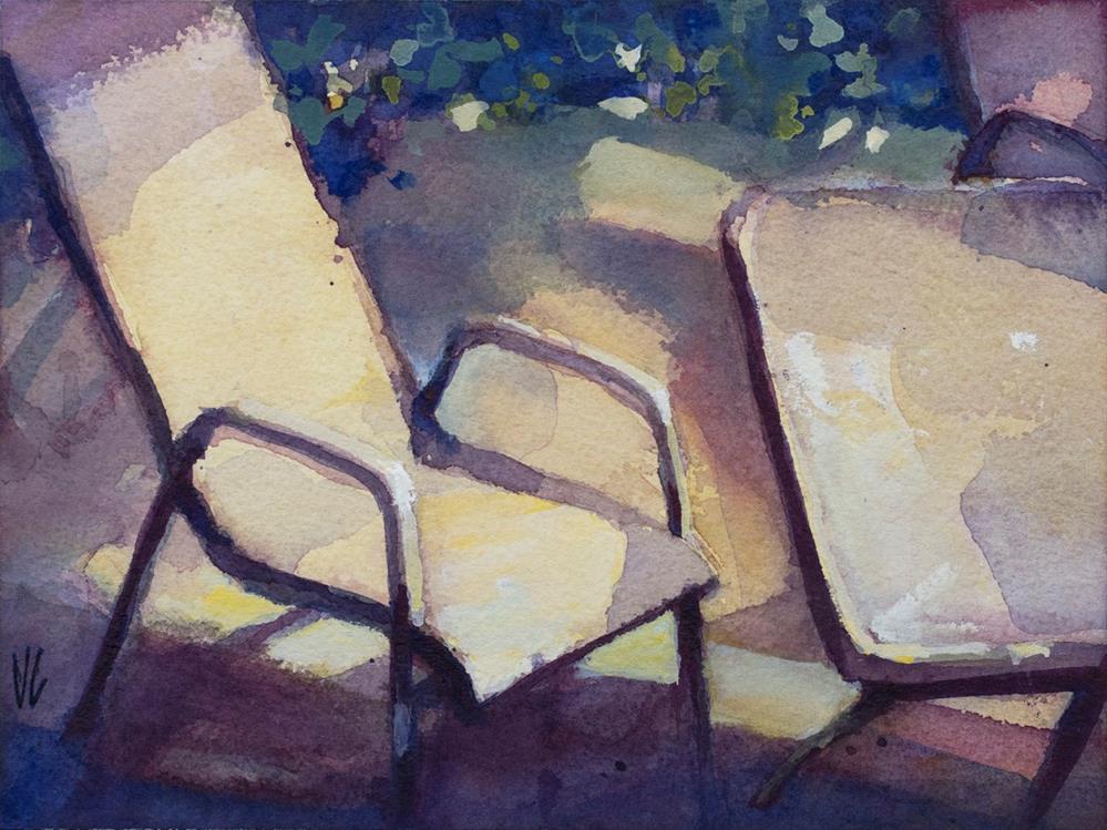 """Backyard I"" original fine art by Vladan Ignatovic"