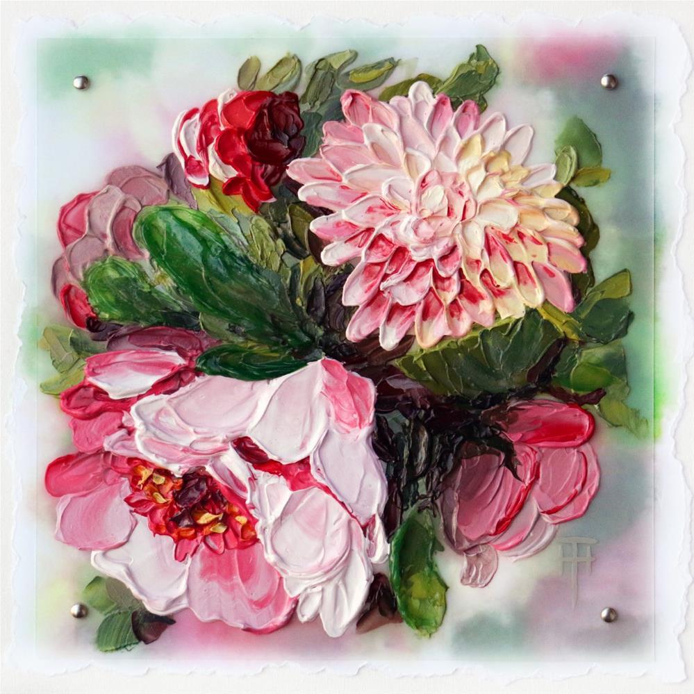 """Sweet Peony"" original fine art by Terri Heinrichs"