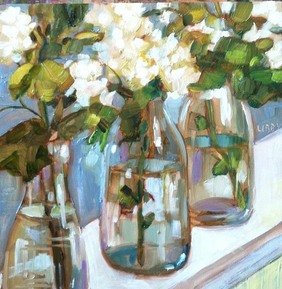 """Milk Bottles"" original fine art by Libby Anderson"