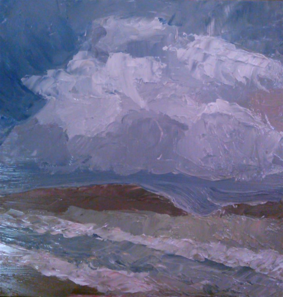 """Stormy Skys"" original fine art by Gerri Obrecht"