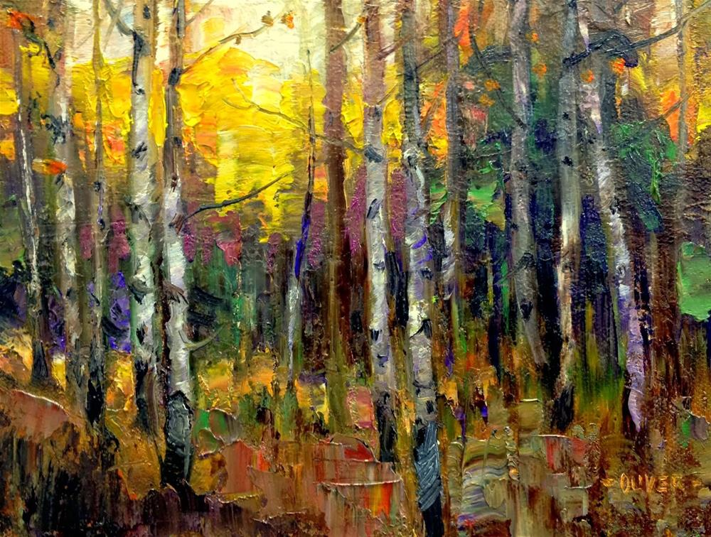 """Aspen Glow"" original fine art by Julie Ford Oliver"