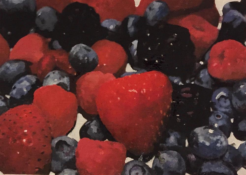 """Summer Fruits"" original fine art by John Cameron"