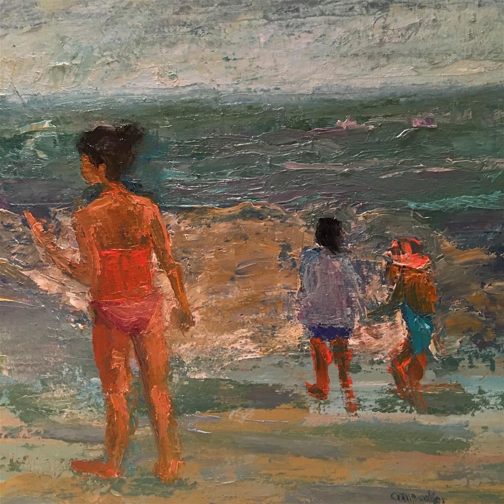 """Figurative abstract seascape"" original fine art by Christine Parker"