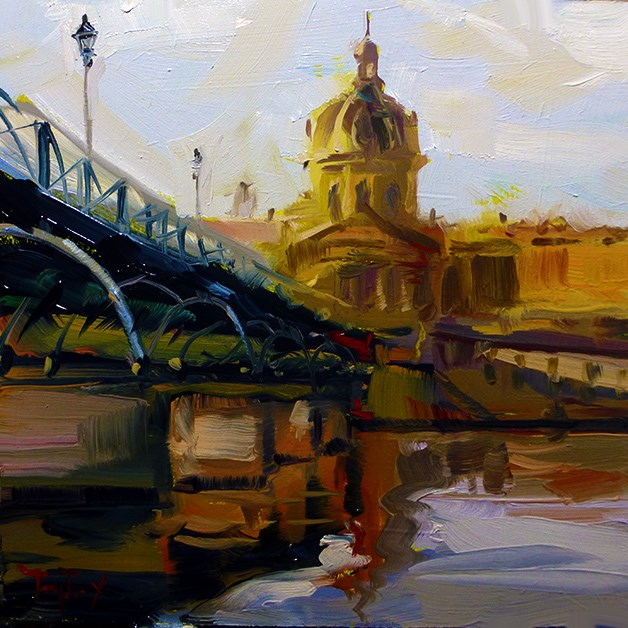 """Pont des Arts"" original fine art by Jurij Frey"