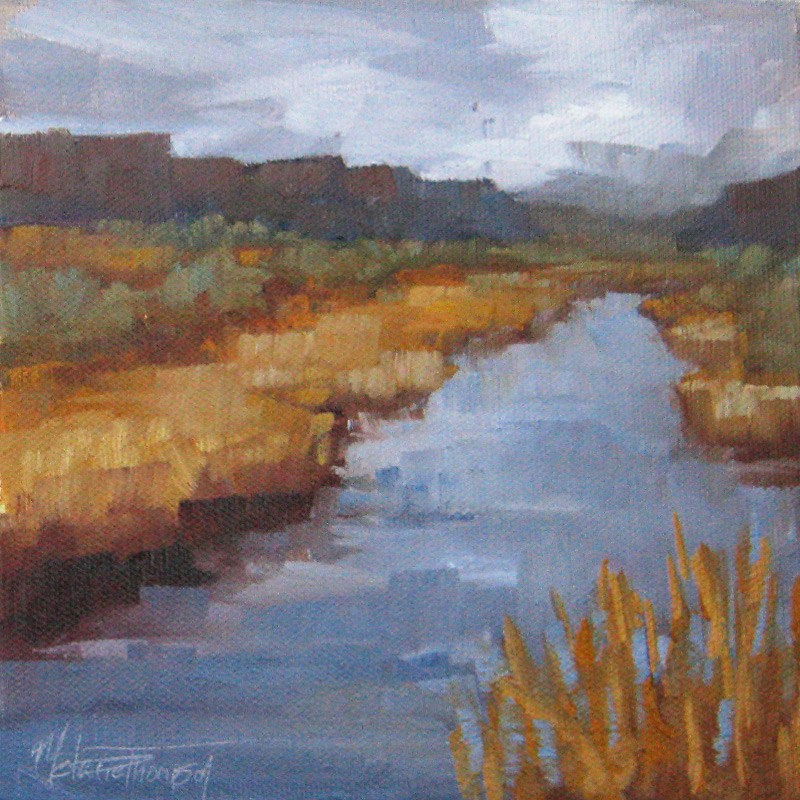 """Crab Creek in Purple"" original fine art by Melanie Thompson"