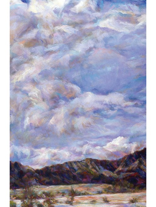 """BLUE CLOUDS - pastel by Susan Roden"" original fine art by Susan Roden"
