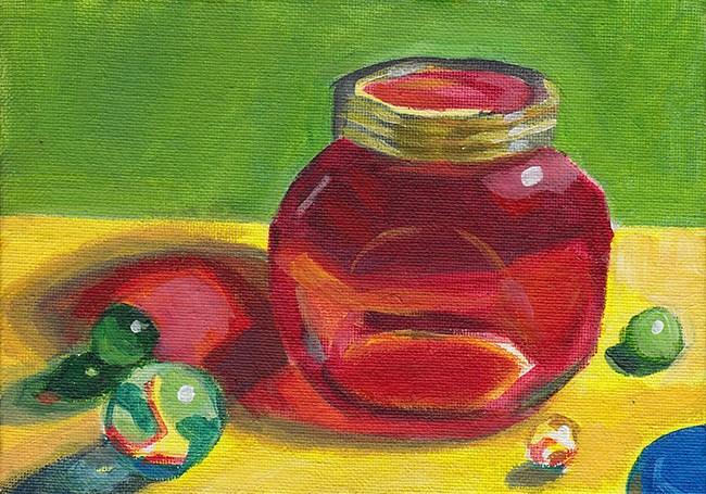 """Through The Glass"" original fine art by J M Needham"