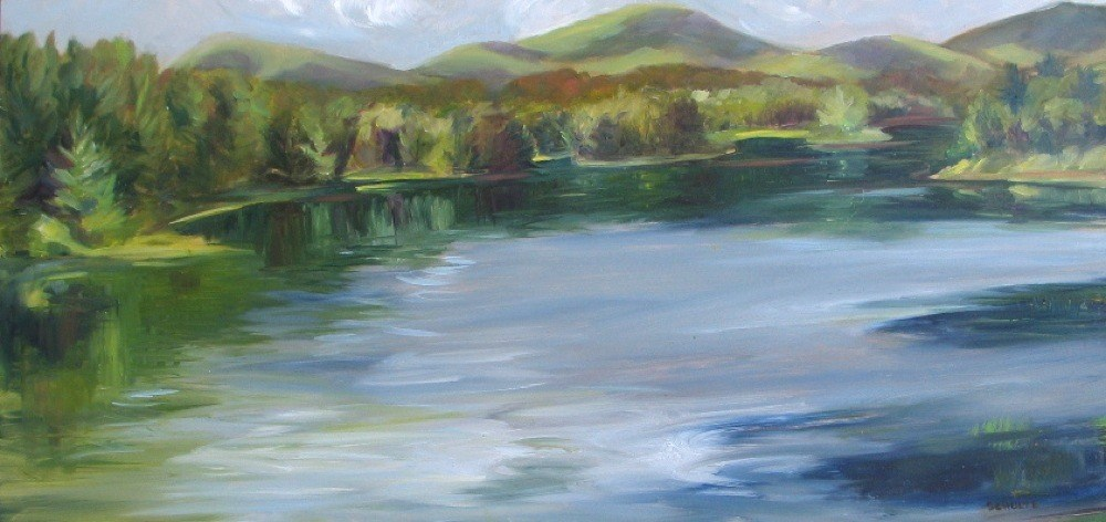 """Colton Pond"" original fine art by Lynne Schulte"