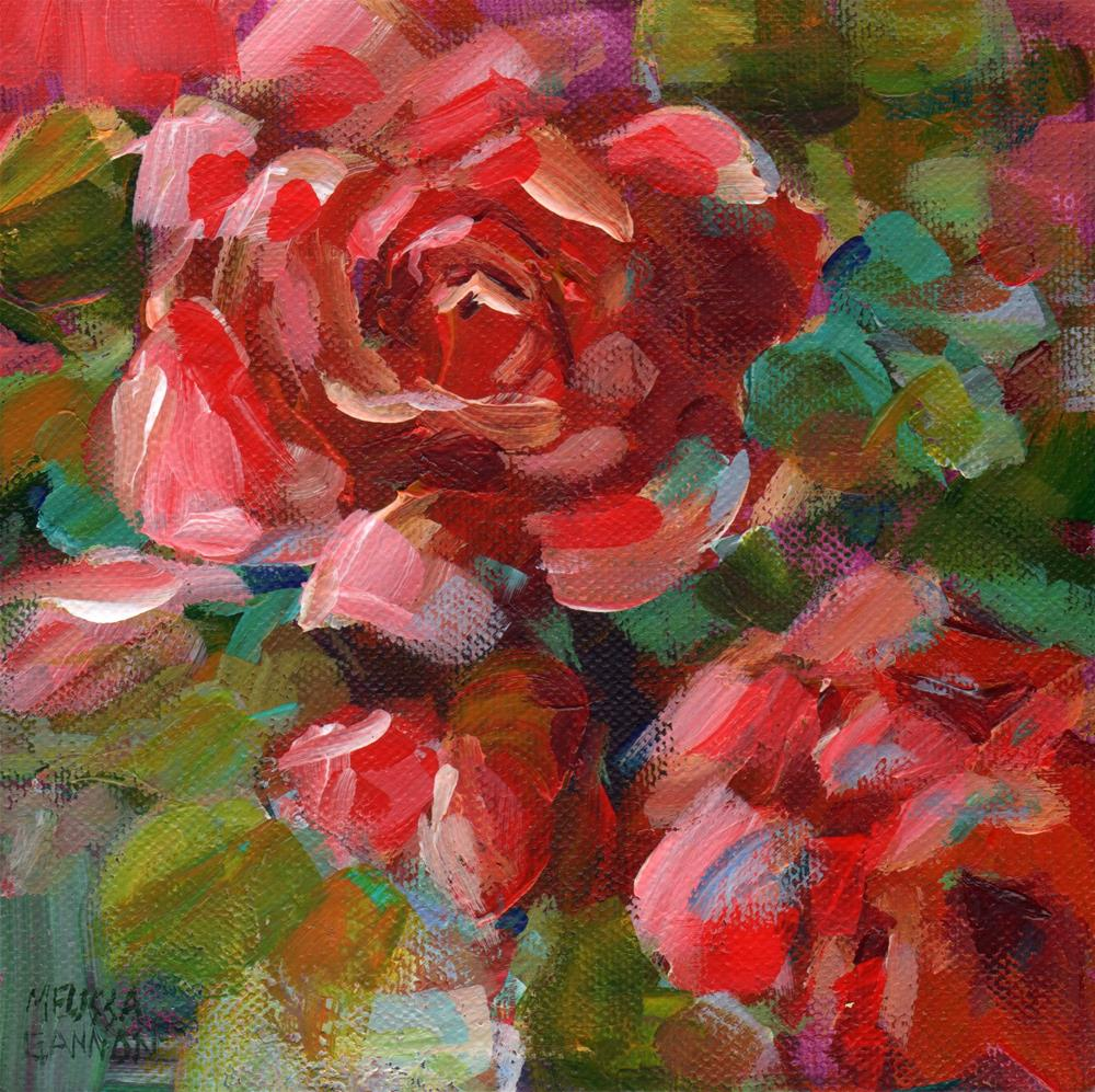 """Rose Impressions"" original fine art by Melissa Gannon"