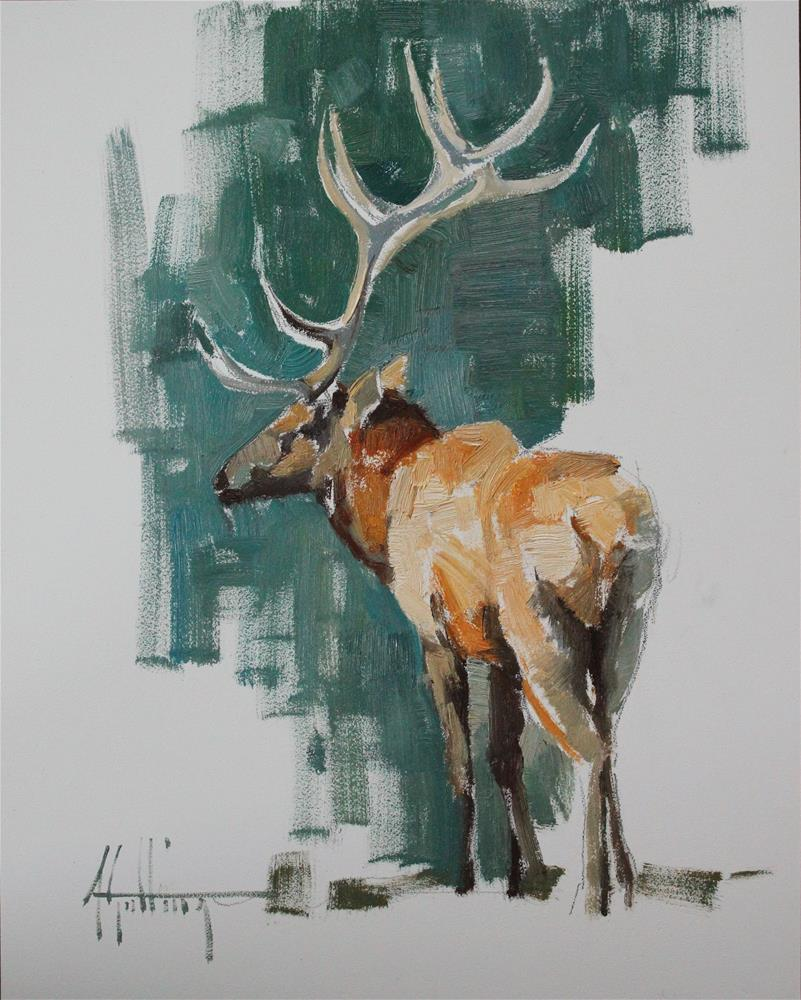 """Elk Study #6"" original fine art by Abigail Gutting"